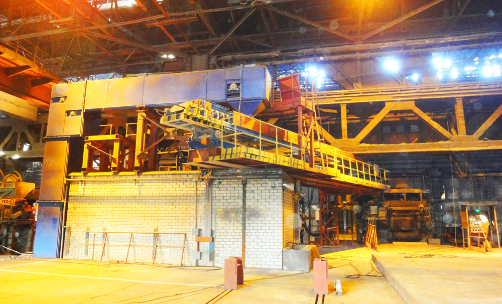 Arc steel furnace complex with a capacity of 15 tons in steel plant No. 1 for NKMZ, PJSC