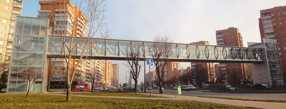 Construction of pedestrian overpass on Gagarin avenue
