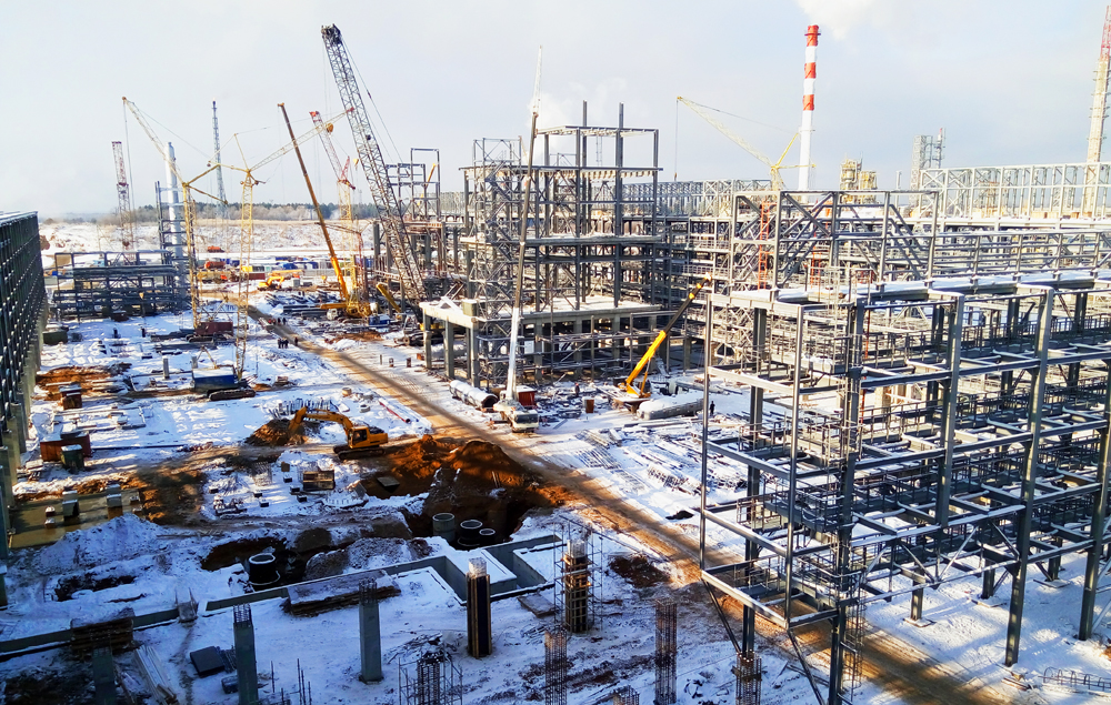 Kerosene and diesel oil hydrotreatment section construction for TATNEFT, PJSC